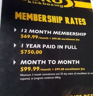 CKO KICK BOXING PRICES