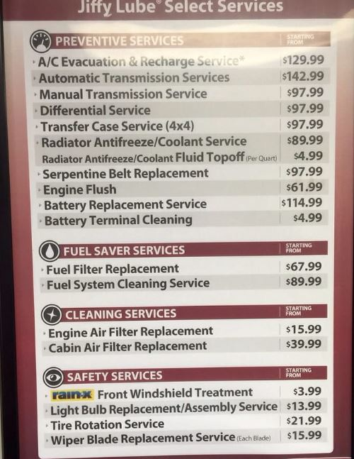 How Much Is An Oil Change >> How Much Is An Oil Change At Jiffy Lube Jiffy Lube Oil
