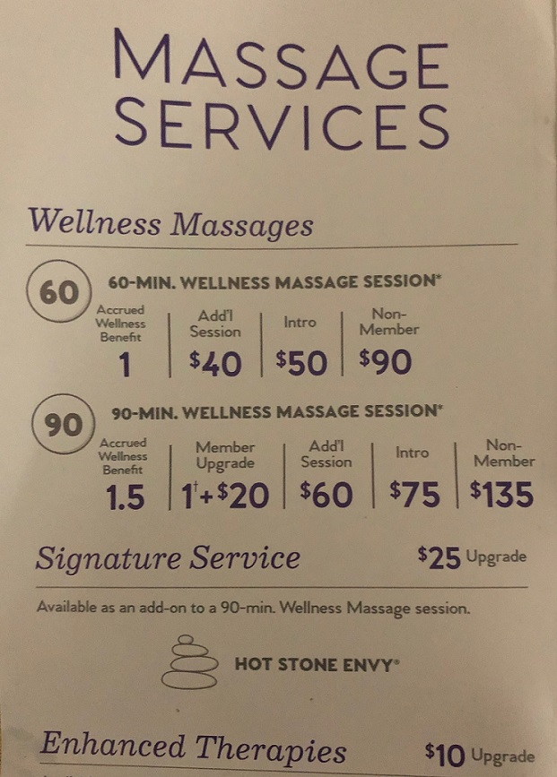 Massage Envy Prices