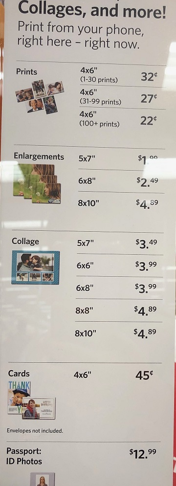 Target Photo Prices