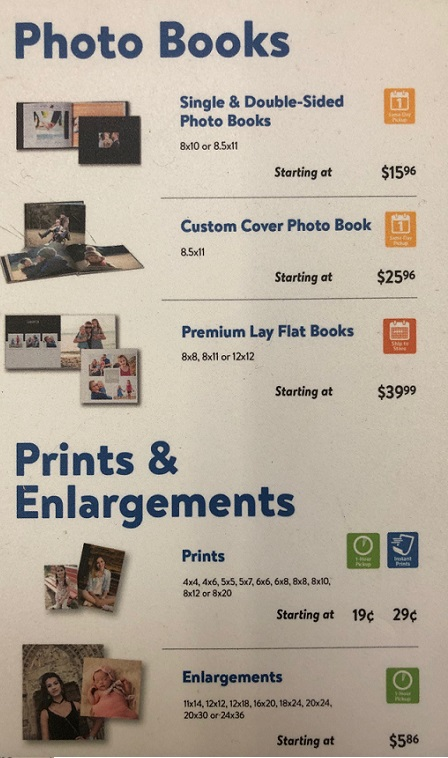 Walmart Photo Printing